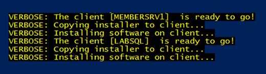 Das PowerShell-Skript zur automatisierten Softwarebereitstellung bei der Arbeit.