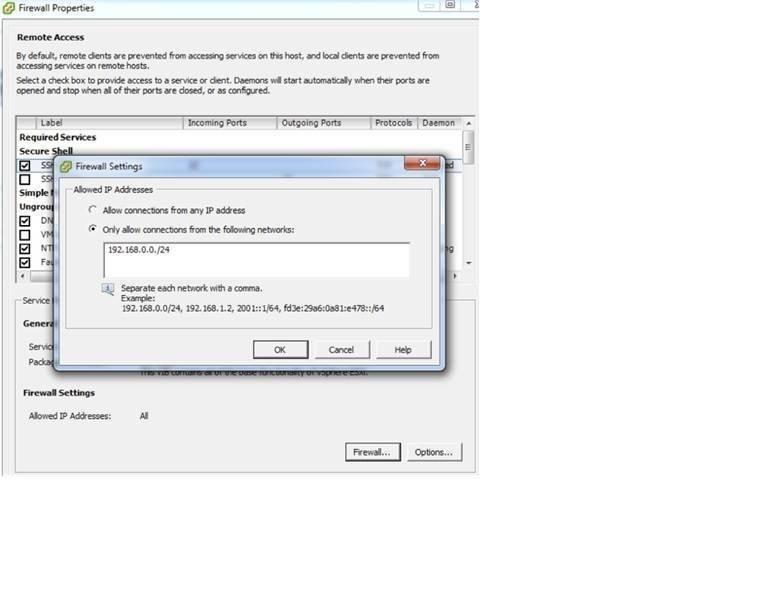 ESXi firewall functionality in vSphere 5