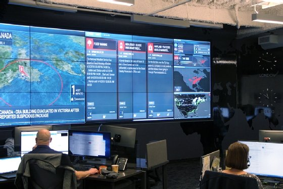 Photo of Everbridge's Global Operations Center