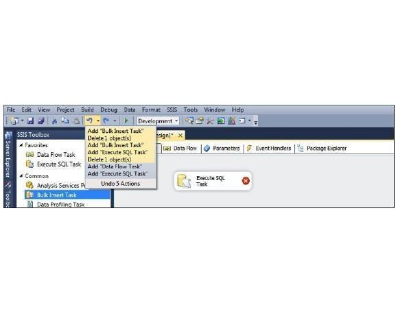 Further SSIS tips: Parameters and undoing operations
