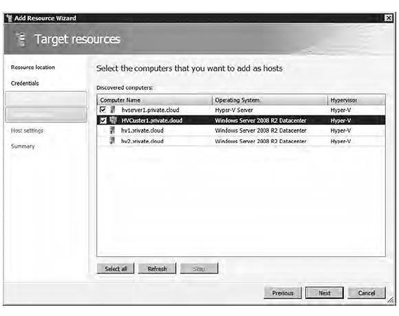 VMM 2012 Add Resource Wizard