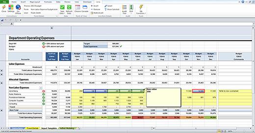 Image of Vena budgeting software