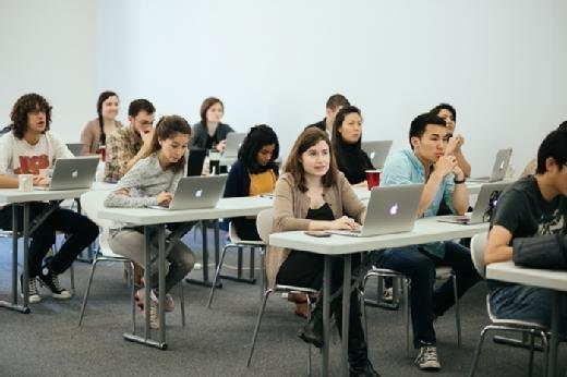 Students take classes in computer programming at the Flatiron School, a coding boot camp in New York.