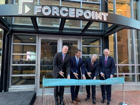 Forcepoint, Forcepoint Cyber Experience Center  - forcepoint ribbon cutting mobile - Forcepoint pushes 'human-centric cybersecurity' approach