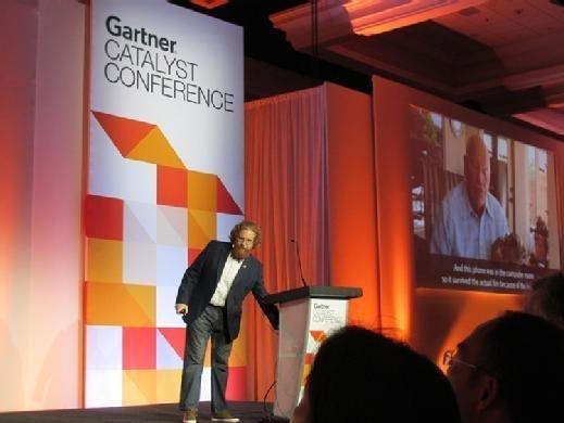 Gartner analyst Danny Brian speaks during the keynote presentation at Gartner Catalyst in San Diego on Aug. 21.