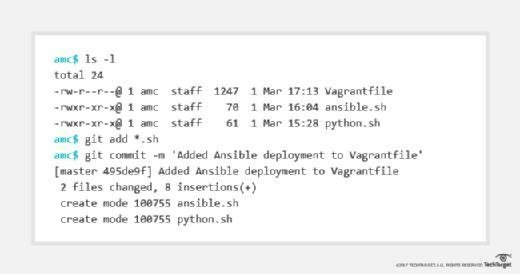 Commit Ansible deployment to Git