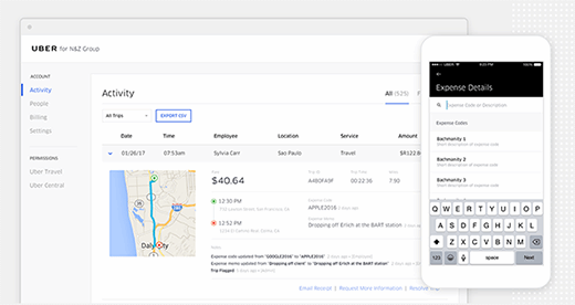 Uber for Business screenshot