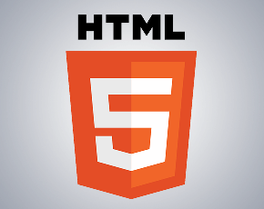 HTML5 logo; Photo credit to w3 website