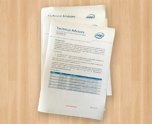 Intel security advisory