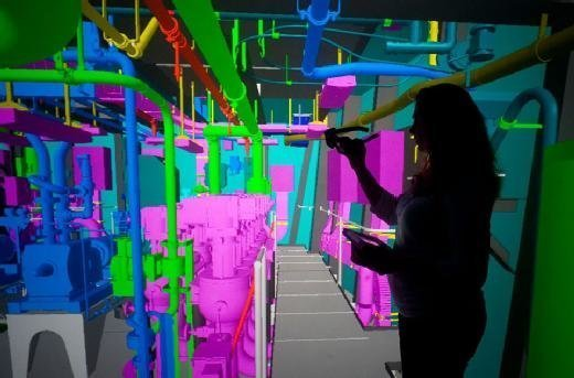 An example of augmented reality being used on the USS Gerald R. Ford