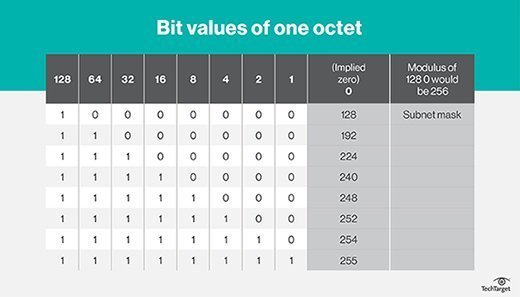 One octet bit values