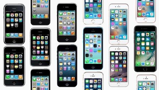 iPhone 1 through iPhone 8