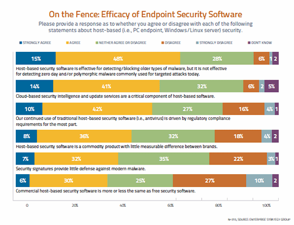 On the fence: Efficacy of endpoint security software