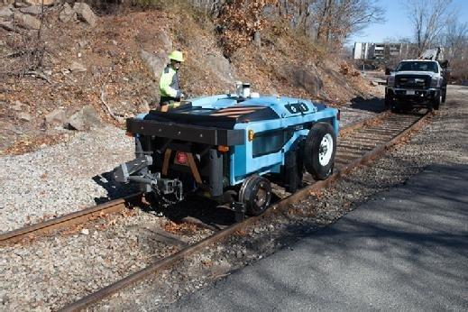 RailPod inspection vehicle on track