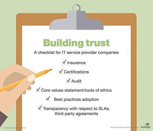 building trust checklist