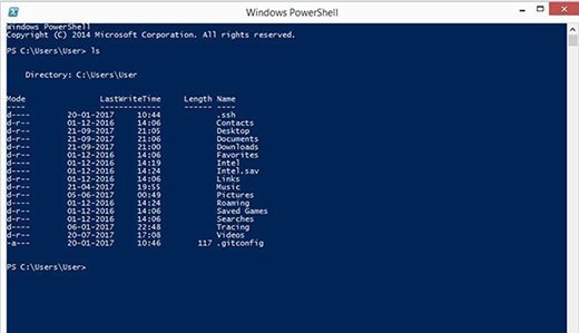 PowerShell directory list