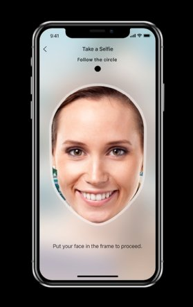 Jumio mobile facial recognition  - jumio ID circle half column mobile - Jumio identity verification technology benefits from AI