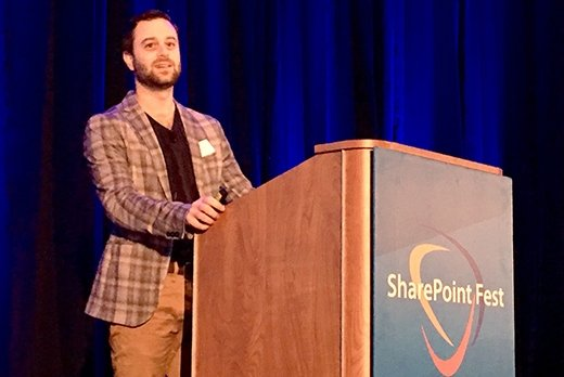 Microsoft's Brian Levenson speaks at SharePoint Fest 2018