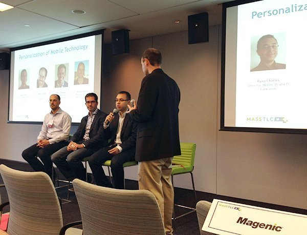 Panel on mobile personalization at MassTLC event
