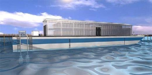 Plans for a floating data center from Nautilus Data Technologies.