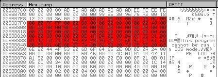 """Die entschlüsselte Ressource ist eine weitere PE-Datei. """"MZ"""" (rechts im ASCII-Feld) kennzeichnet den Anfang eines PE-Dateikopfes. (Quelle: Check Point)"""