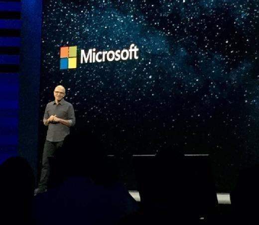 Microsoft CEO Satya Nadella at Microsoft Ignite 2017