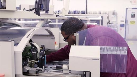 Robotic technology is operation at Firstronic LLC, a  Grand Rapids, Mich.-based electronics manufacturing services provider.