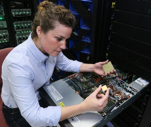 The IBM Power9 CPU sits at the heart of the AC922 enterprise AI server.