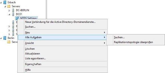 Snap-in für Active Directory-Standorte und -Dienste