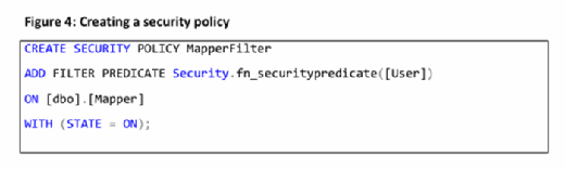 creating a security policy