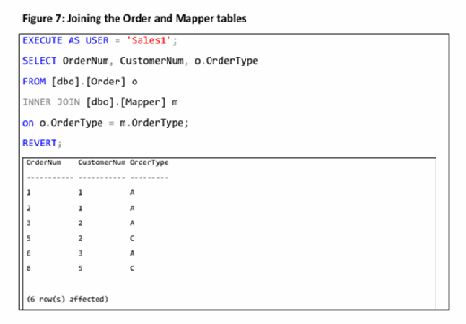 joining the order and mapper tables
