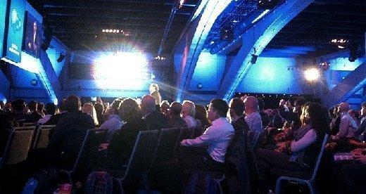 Marc Benioff at Tuesday's keynote, Dreamforce 2014