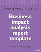 Using a business impact analysis template a free bia template and guide bia template wajeb Image collections