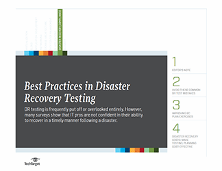 Best practices in disaster recovery tests