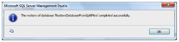 Split database restore success