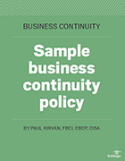 Check out our template to get started on a business continuity policy.