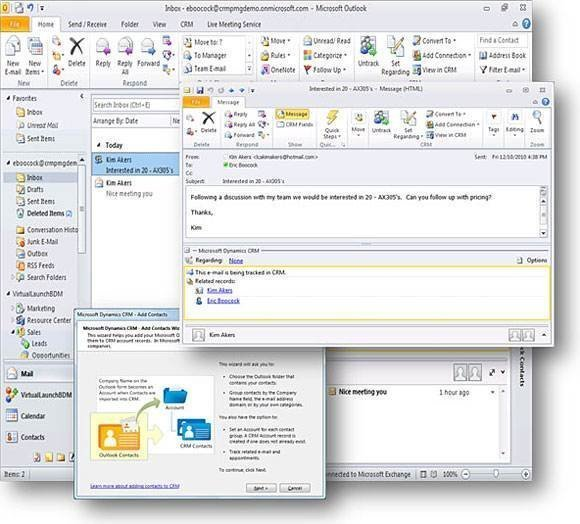 Integration Microsoft Outlook Dynamics Crm 8