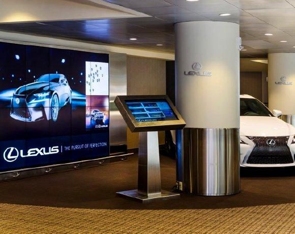 Lexus interactive kiosk
