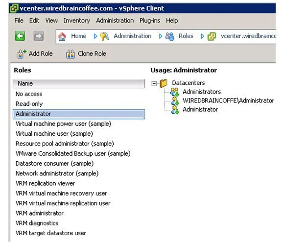 Figure 4: Create your own vSphere admin group in Active Directory.