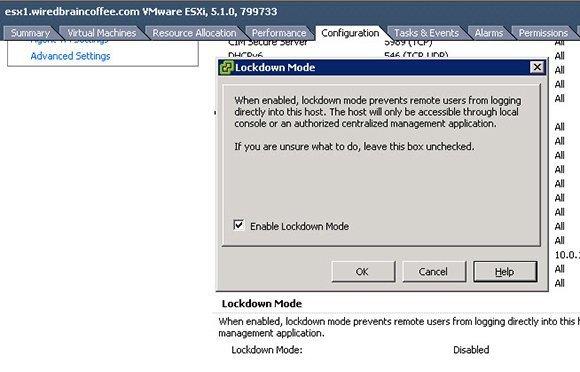 Figure 6: Enabling Lockdown Mode is a key step.