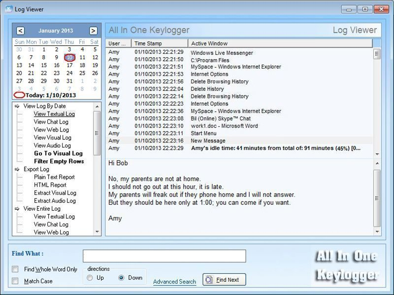 What is keylogger (keystroke logger or system monitor