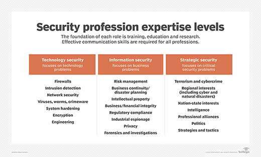 Security profession expertise levels