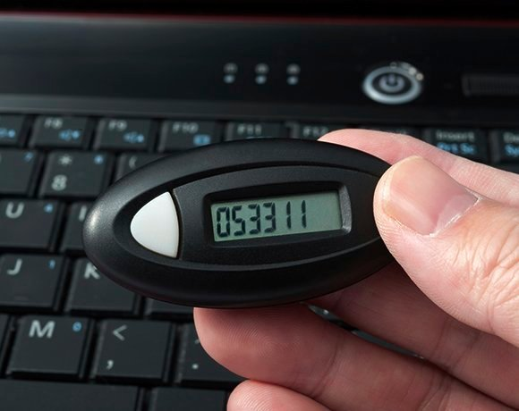 a key fob for multifactor authentication
