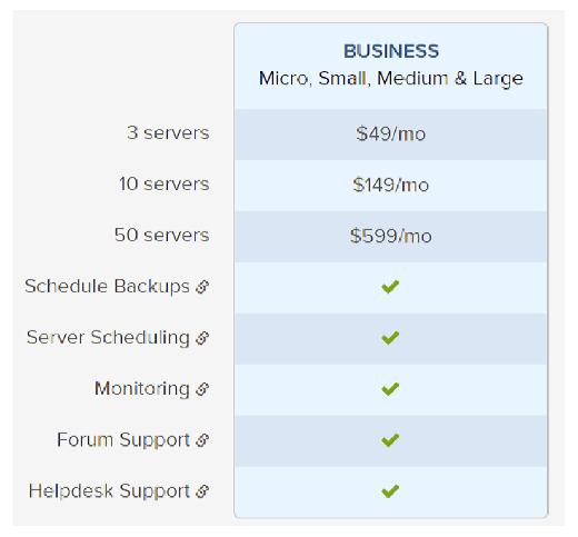 Bitnami server pricing tiers