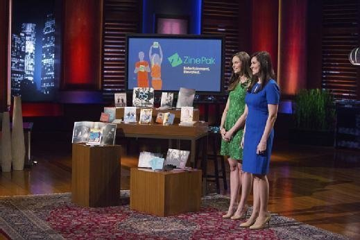 ZinePak's Kim Kaupe and Brittany Hodak on the ABC TV show, 'Shark Tank.'