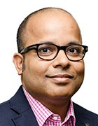 headshot image of Bipul Sinha, CEO of Rubrik