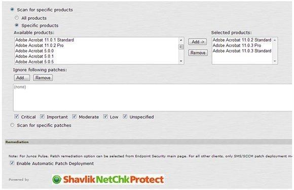 Patch attachment assesses client security