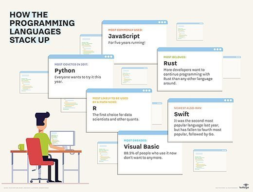 How the programming languages stack up