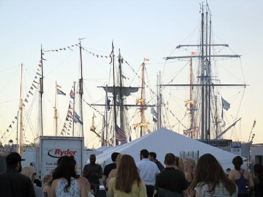 Boston Harbor tall ships