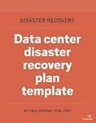 Data center DR plan template